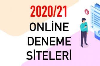 2020 2021 Online Denemeler