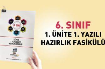 Yener Hoca 1. Dönem 1. Yazılı Hazırlık Fasikülü